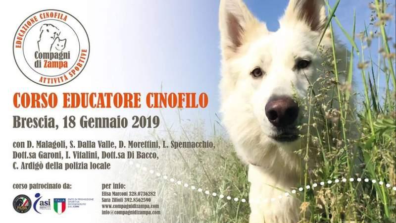 Brescia: corso da educatore cinofilo (18 gennaio 2019)!