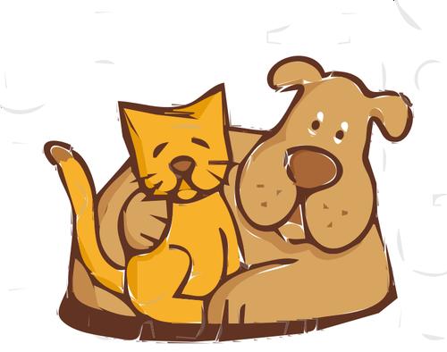Amici inseparabili: la gattina e il cane!